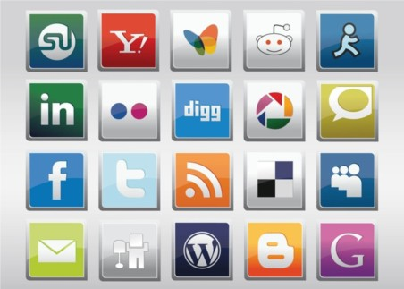 Free Social MediVector Icons vector