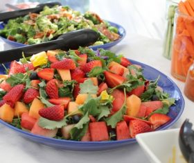 Fresh and delicious fruit salad Stock Photo 04