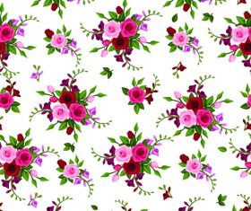 Fresh rose pattern seamless vectors 02