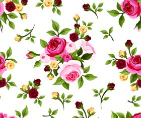 Fresh rose pattern seamless vectors 03