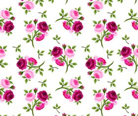 Fresh rose pattern seamless vectors 04