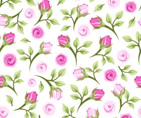 Fresh rose pattern seamless vectors 05