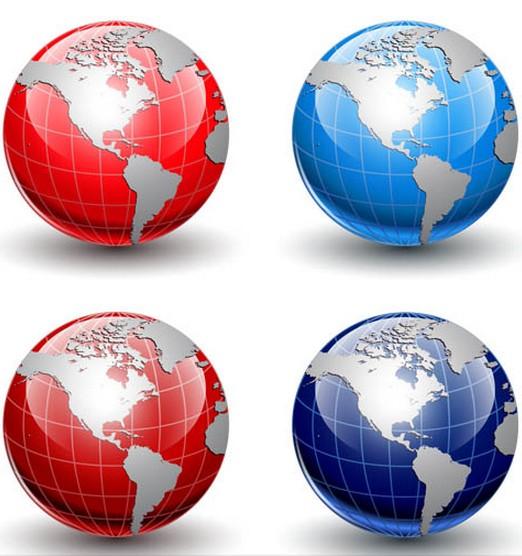 3D Glass Globes vector design