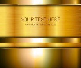 Golden metal backgrounds shiny vector graphics 03