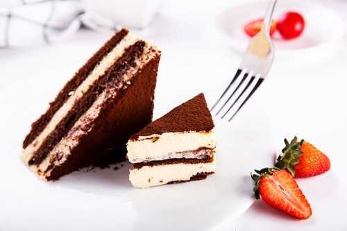 Good tasting dessert tiramisu Stock Photo 01