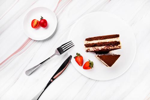 Good tasting dessert tiramisu Stock Photo 02