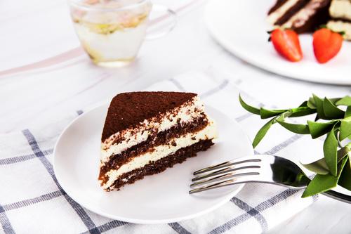 Good tasting dessert tiramisu Stock Photo 04