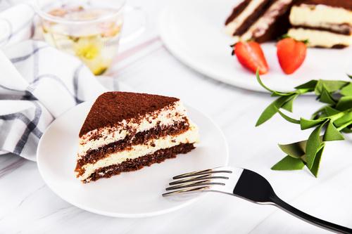 Good tasting dessert tiramisu Stock Photo 05
