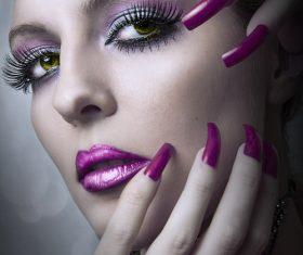 Gorgeous makeup woman Stock Photo