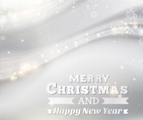 Gray christmas background with new year design vector 01