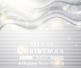 Gray christmas background with new year design vector 02
