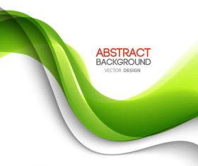 Green abstract wave with paper background vector