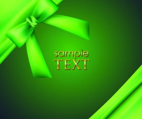 Green bows with ribbon vector illustration 02