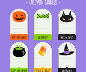 Halloween banner label vector