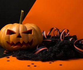 Halloween funny pumpkin lights Stock Photo 06