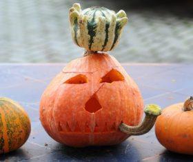 Halloween funny pumpkin lights Stock Photo 10