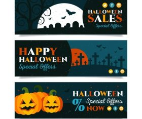 Halloween promotion banner vector