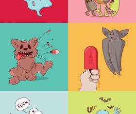 Halloween vector illustration funny illustration