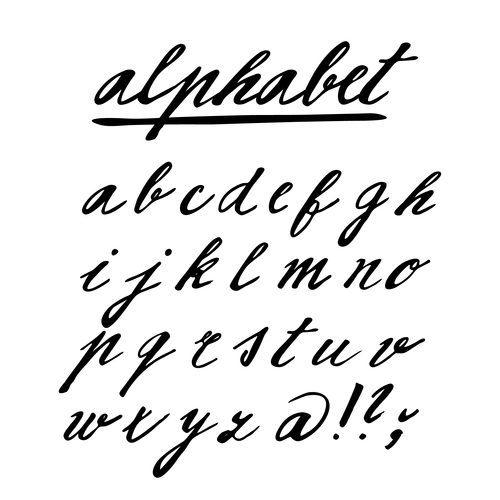Hand drawing alphabet fonts vector 03 free download