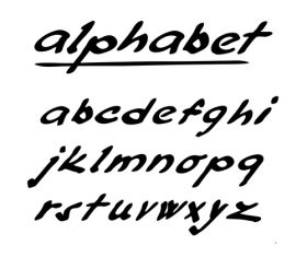 Hand drawing alphabet fonts vector 05