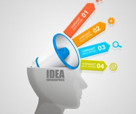 Head idea concept infographic template vector 02