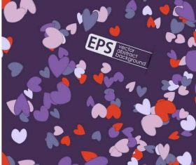 Heart pattern with purple valentine day card vector
