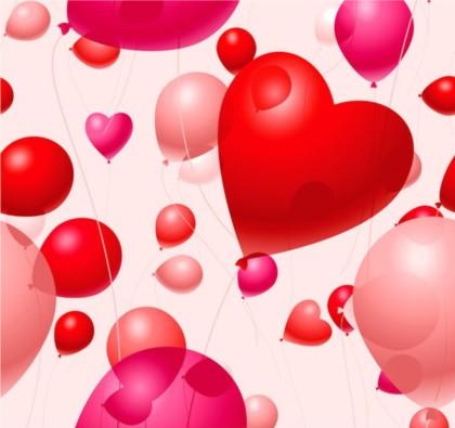 Heart-shaped balloons. vectors material