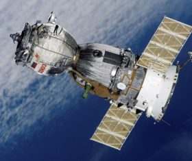 High-tech artificial satellite Stock Photo 01
