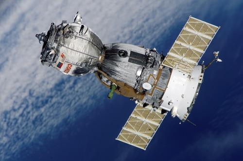High tech artificial satellite Stock Photo 01