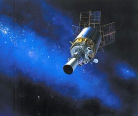High-tech artificial satellite Stock Photo 02