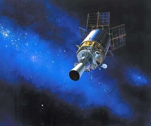 High tech artificial satellite Stock Photo 02