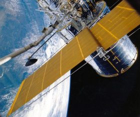 High-tech artificial satellite Stock Photo 03