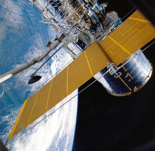 High tech artificial satellite Stock Photo 03