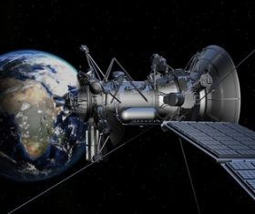 High-tech artificial satellite Stock Photo 05