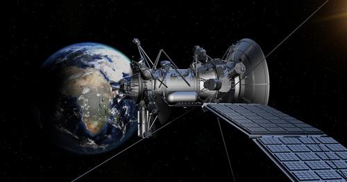 High tech artificial satellite Stock Photo 05