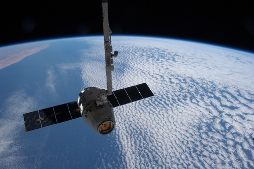 High tech artificial satellite Stock Photo 07