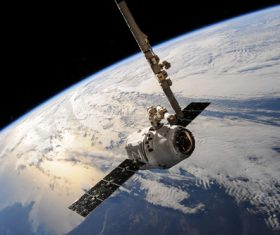 High-tech artificial satellite Stock Photo 10