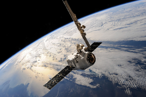 High tech artificial satellite Stock Photo 10