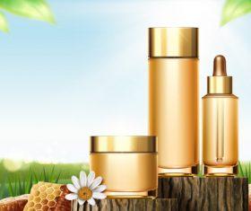 Honey cosmetics background vectors 01
