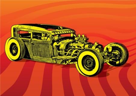 Hotrod Car creative vector