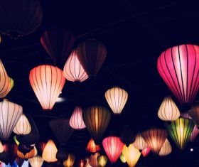 In all kinds of colors lantern Stock Photo 02