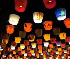 In all kinds of colors lantern Stock Photo 03