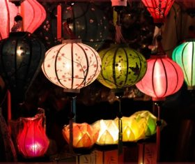 In all kinds of colors lantern Stock Photo 06