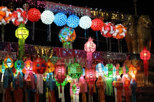 In all kinds of colors lantern Stock Photo 07