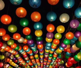 In all kinds of colors lantern Stock Photo 09