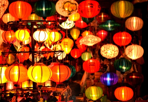 In all kinds of colors lantern Stock Photo 10