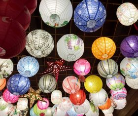 In all kinds of colors lantern Stock Photo 12