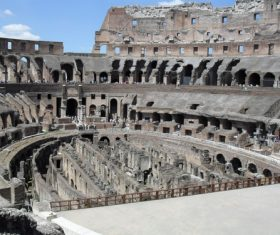 Interior of the Colosseum Stock Photo 02