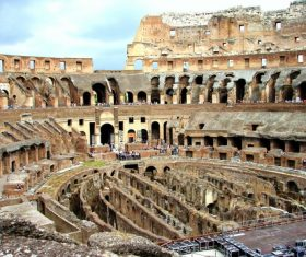 Interior of the Colosseum Stock Photo 03