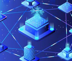 Internet technology business virtual concept vector illustration